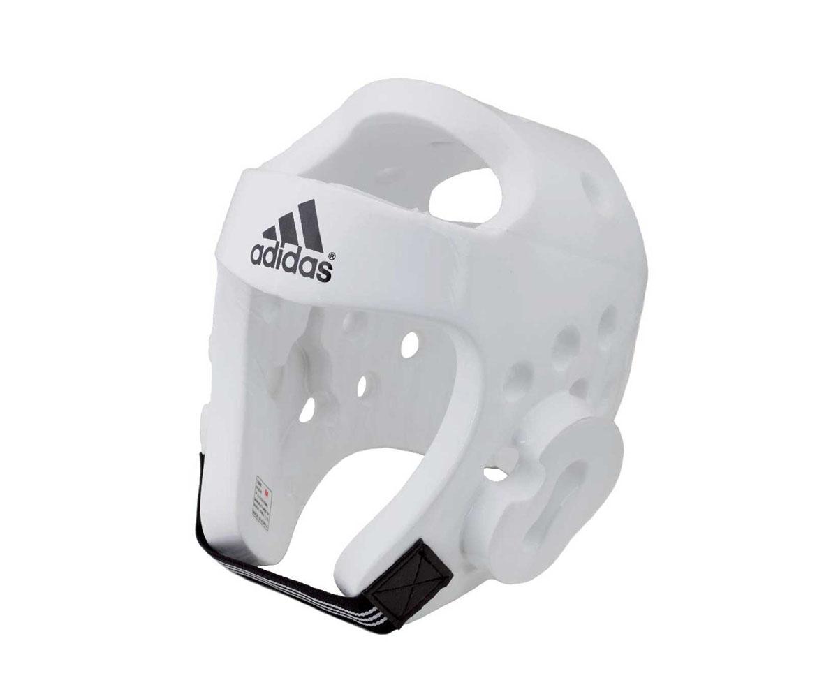 Шлем для тхэквондо Adidas Taekwondo Head Guard Dipped Foam WTF, цвет: белый. adiTHG01. Размер XLadiTHG01
