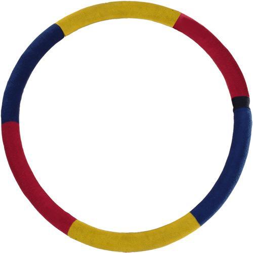 Обруч GymClass гимнастический, массажный, 80 см, 3 кг, цвет: желтый, синий, красный596Обруч GymClass с инертным наполнителем (просеянный песок) изготовлен из особо прочной армированной резины и снабжен защитным покрытием из цветного трикотажа. Не сгибается. Массажный обруч - эффективный тренажер для уменьшения объема талии, а также снижения общего веса. При вращении этого обруча на талии, благодаря массажному воздействию, активизируются мышцы живота, спины, бедер и ягодиц. Наибольшего эффекта при использовании массажного обруча вы сможете достичь, если длительность ваших тренировок будет составлять 10-15 минут в день, и вы сможете уменьшить объем талии до 10 сантиметров за 1 месяц. Обруч массажный предназначен для вращения на талии с целью похудения, выправления осанки, улучшения кровообращения в области поясницы и таза, а так же укрепления ног. Характеристики: Материал: армированная резина, пенополиэтилен, трикотаж. Вес: 3 кг. Диаметр по внешнему краю: 80 см. Диаметр трубки: 5,8 см. ...
