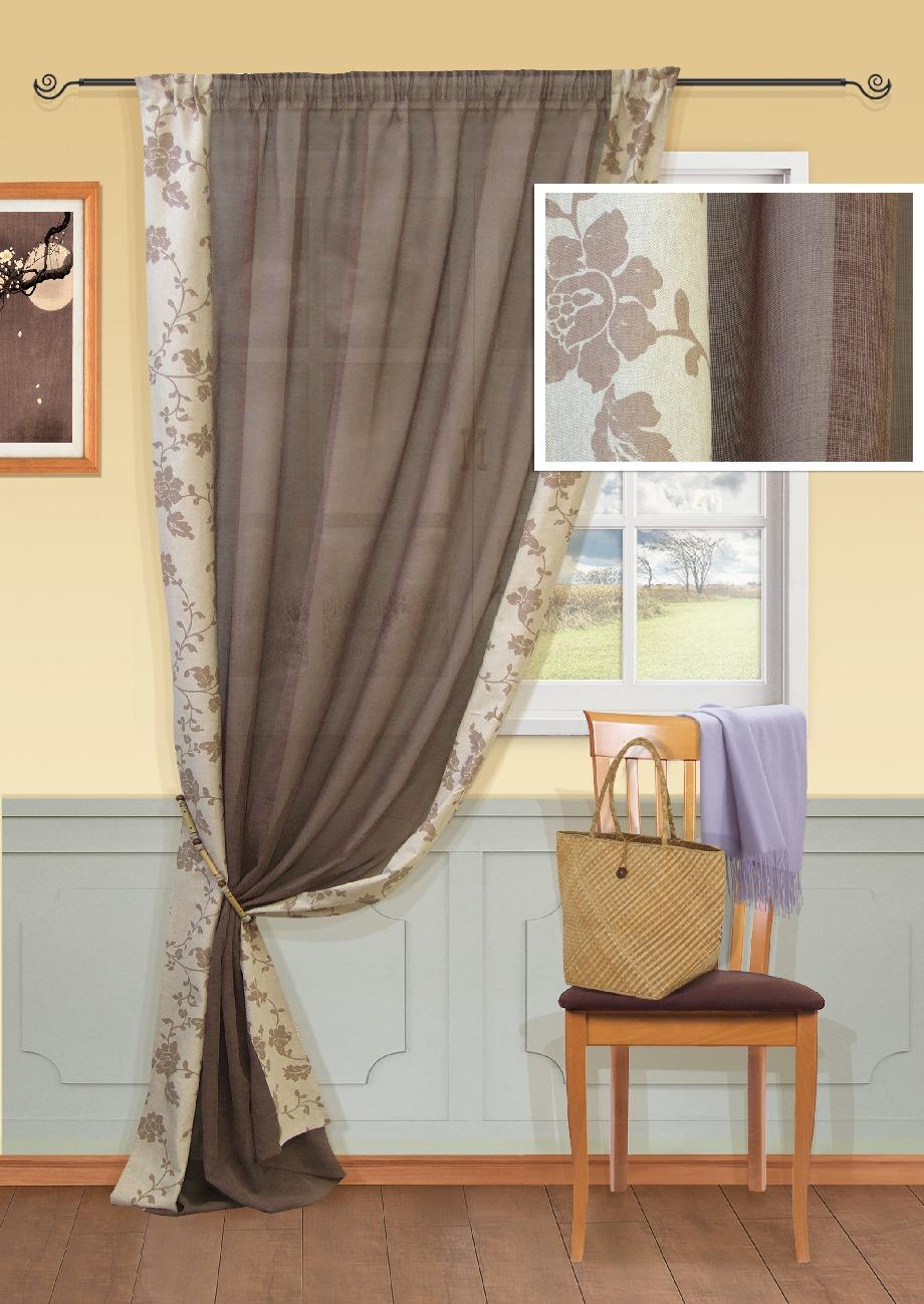 Штора Kauffort Мияко, на ленте, цвет: серый, коричневый, высота 279 см. UN111211160UN111211160Роскошная штора Kauffort Мияко выполнена из полиэстера. Материал является плотным и мягким на ощупь. Оригинальная текстура ткани и приятная, приглушенная гамма с цветочным принтом, привлекут к себе внимание и органично впишутся в интерьер помещения. Эта штора будет долгое время радовать вас и вашу семью! Штора крепится на карниз при помощи ленты, которая поможет красиво и равномерно задрапировать верх.