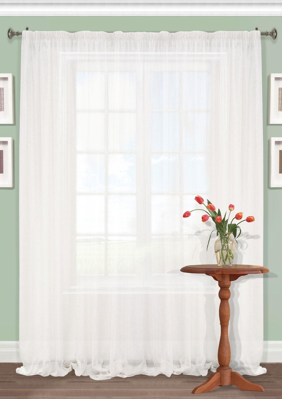 Штора Kauffort Акварель, на ленте, цвет: белый, высота 287 см. UN111250110UN111250110Роскошная штора Kauffort Акварель выполнена из полиэстера. Материал плотный и мягкий на ощупь. Оригинальная текстура ткани и нежная цветовая гамма привлекут к себе внимание и органично впишутся в интерьер помещения. Эта штора будет долгое время радовать вас и вашу семью! Штора крепится на карниз при помощи ленты, которая поможет красиво и равномерно задрапировать верх.