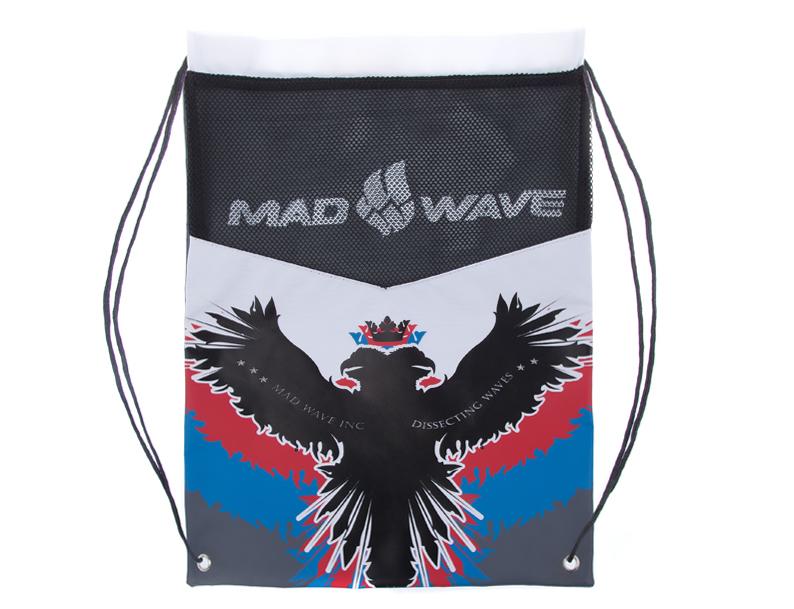 Мешок для инвентаря Mad Wave, цвет: рисунок, 48 см х 37,5 см. M1113 03 0 00W10015761Мешок Mad Wave предназначен для хранения мокрого инвентаря и спортивной одежды. Фиксируется плотным шнуром, который одновременно служит лямками для переноски на спине. Материал не впитывает воду и быстро сохнет. Мешок украшен российской символикой.