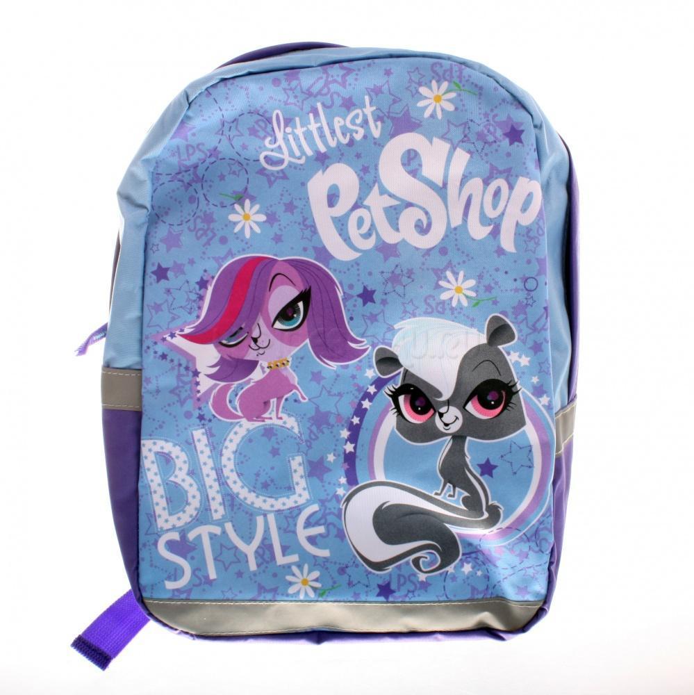 Рюкзак, размер 35 x 26 x 10 см. Littlest Pet ShopLPAP-UT-566Рюкзак для свободного времени. Одно вместительное отделение не имеет разделителей. Лямки с поролоновыми вставками, регулируются по длине. Ручка текстиль. Светоотражающие элементы спереди, по бокам и на лямках.