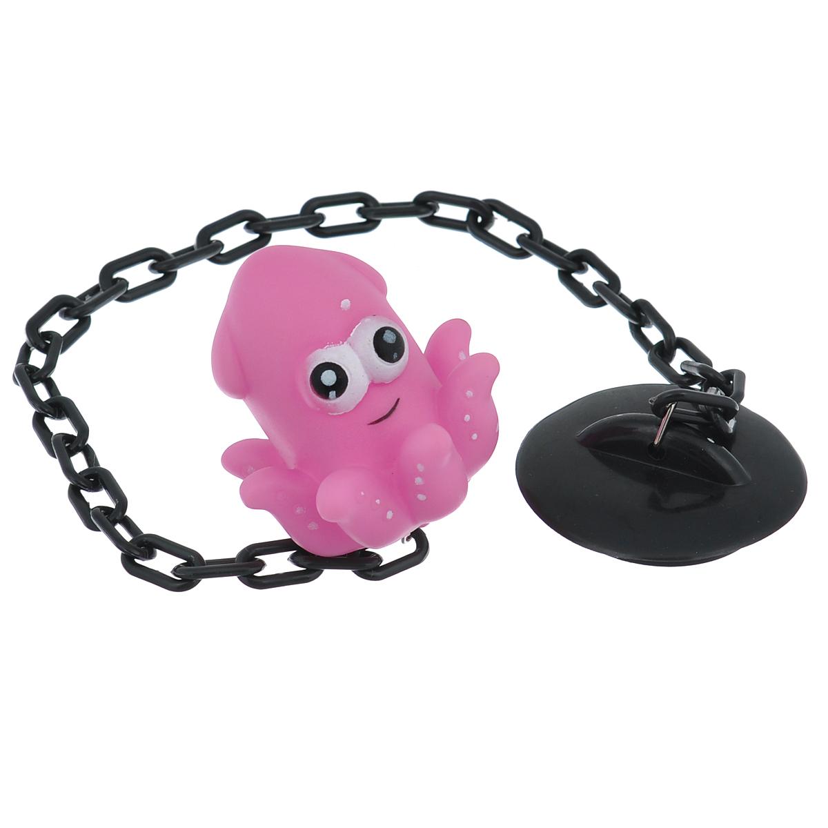 Пробка для раковины Осьминог, цвет: розовый. 813-038813-038Диаметр пробки: 5,5 см.