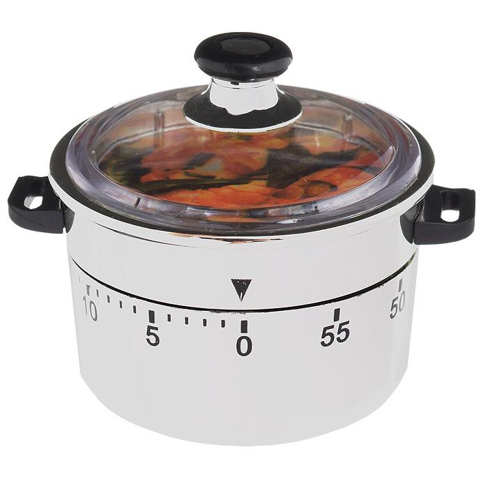 Таймер кухонный Кастрюля, на 60 минут94672Кухонный таймер Кастрюля изготовлен из цветного пластика. Таймер выполнен в виде кастрюли. Максимальное время, на которое вы можете поставить таймер, составляет 60 минут. После того, как время истечет, таймер громко зазвенит. Оригинальный дизайн таймера украсит интерьер любой современной кухни, и теперь вы сможете без труда вскипятить молоко, отварить пельмени или вовремя вынуть из духовки аппетитный пирог.