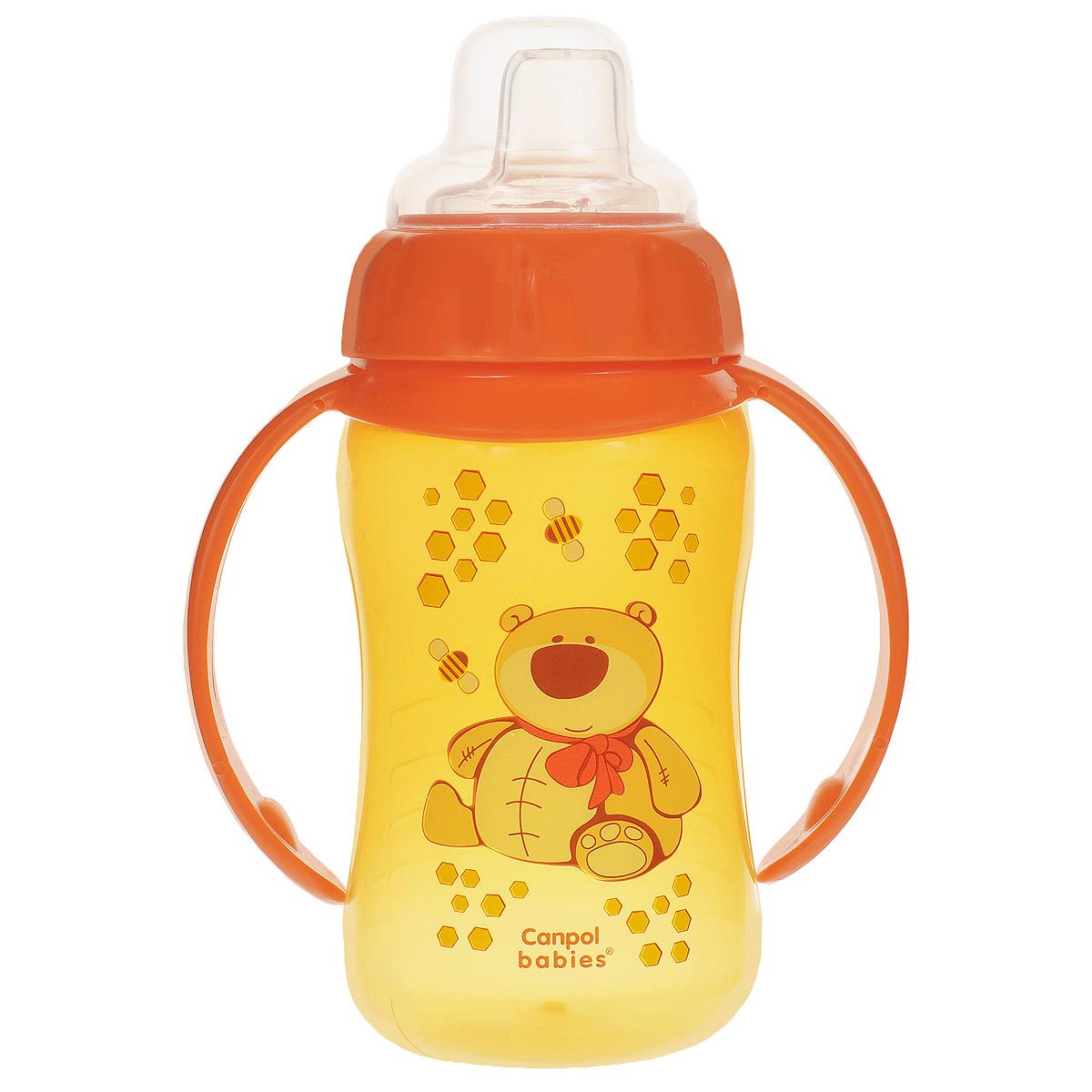 Canpol Babies Поильник с силиконовым носиком от 6 месяцев цвет оранжевый 320 мл
