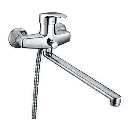Смеситель для Ванны, CD23A19CK+Z06, Sicily, комплектный, дл.изл.CD23A19CK+Z06Аэратор со специальной сеткой для снижения шума. Керамический картридж, диаметр 40 мм. Дивертор с фиксацией (переключатель душ/излив). В комплекте: гибкий шланг из нержавеющей стали 1,5 м с системами Double Lock и Twist Free, настенный держатель для лейки с креплением, душевая лейка (3 режима: Rain, Massage, Rain&Massage), эксцентрики с отражателями. Материал: латунь, полиамид, стекловолокно, керамика, пластик, нержавеющая сталь
