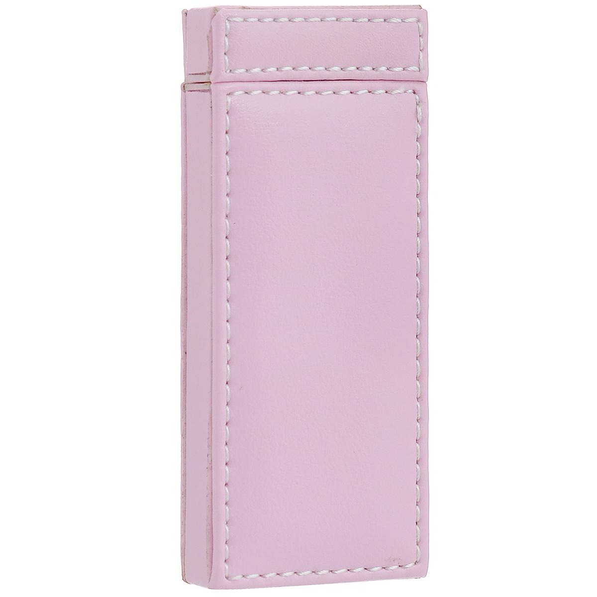 """Зеркало косметическое """"Феникс-презент"""", в чехле, двухстороннее, цвет: розовый. 28821"""