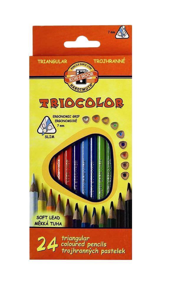 Набор трехгранных цветных карандашей Triocolor, 24 цвета. 3134/2472523WDХарактеристики: Длина карандаша: 17,5 см. Материал:дерево, грифель. Размер упаковки: 9,5 см х 21 см х 2 см.