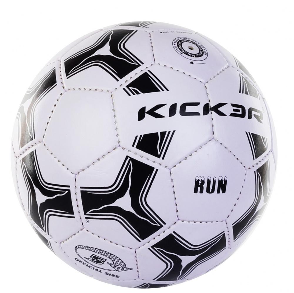 Мяч футбольный Larsen Kicker Run. Размер 51319Футбольный мяч Larsen Kicker Run подойдет для игры на улице. Он выполнен из синтетической кожи и ПВХ. Матовая поверхность. Имеет 4 слоя подкладочного материала - 2 слоя поликоттон и 2 хлопок. Ручная сшивка. 32 панели. Камера выполнена из латекса, с бутиловым ниппелем. Окружность: 68-69 см. УВАЖАЕМЫЕ КЛИЕНТЫ! Просим обратить ваше внимание на тот факт, что мяч поставляется в сдутом состоянии и надувается при помощи насоса (насос не входит (входит) в комплект).