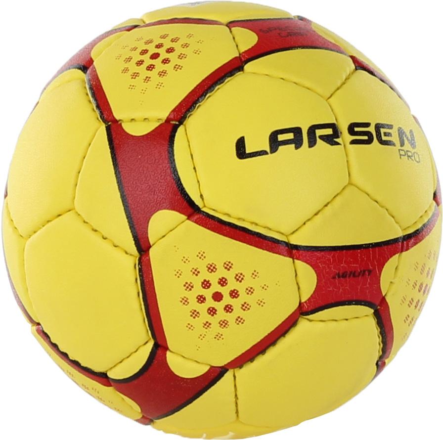 Мяч гандбольный Larsen Pro L-Men, цвет: красный, желтый, черный. Размер 231955Гандбольный мяч Larsen Pro L-Men подойдет для игры на всех покрытиях. Он выполнен из синтетической кожи и полиуретана. Имеет 4 слоя подкладочного материала - 3 слоя поликоттон и 1 поливискоза. Ручная сшивка. 32 панели. Камера выполнена из латекса, с бутиловым ниппелем. Окружность: 54 см.