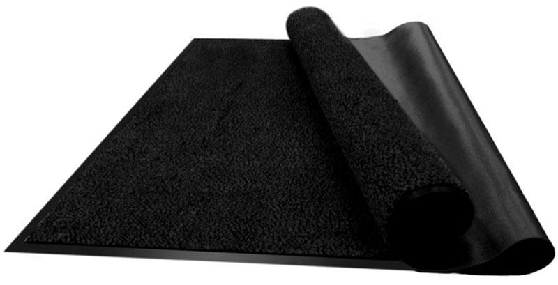 """Коврик придверный Vortex """"Профи"""", влаговпитывающий, цвет: черный, 90 х 120 см 22128"""