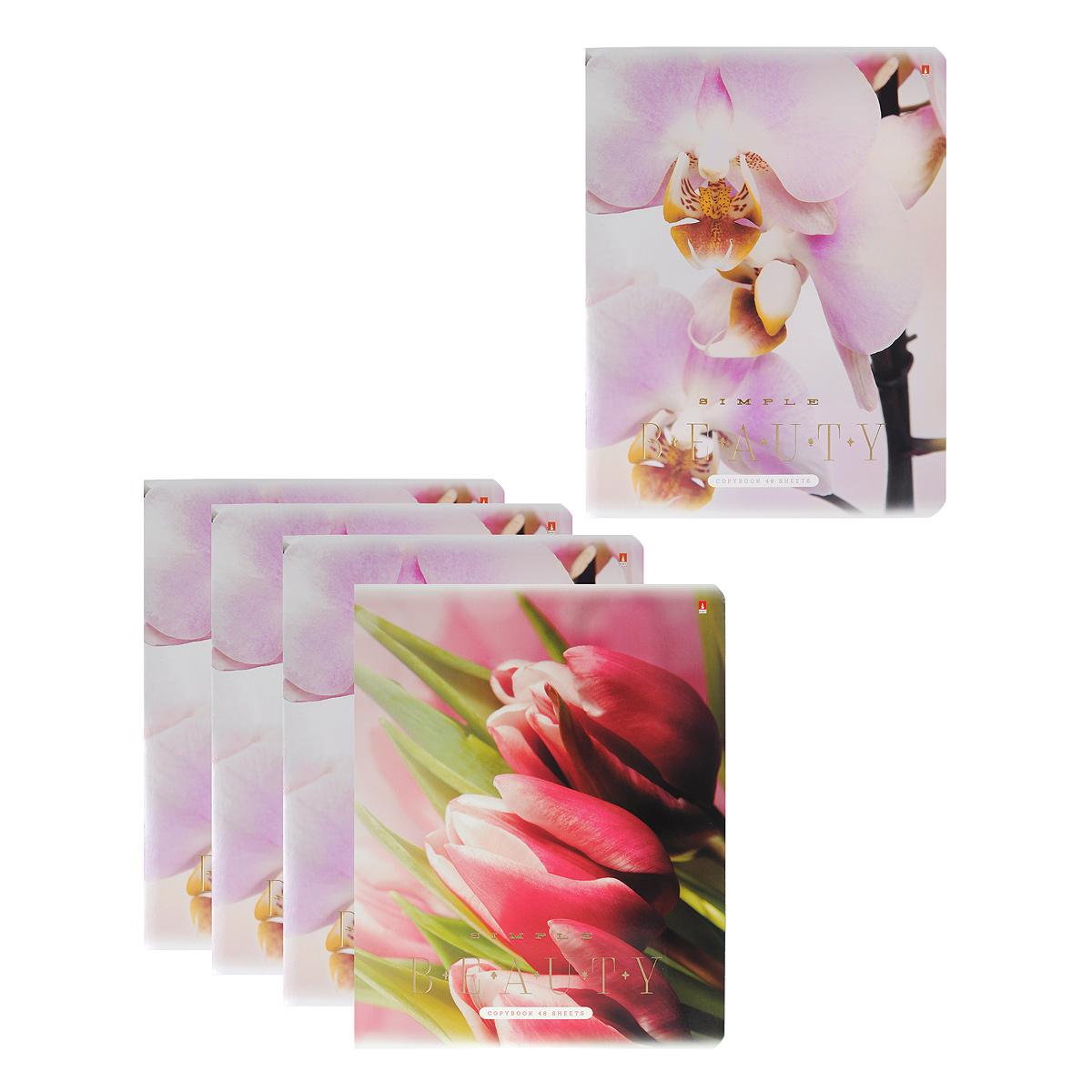 Набор тетрадей Альт Цветы, 48 листов, 5 шт31487Серия тетрадей Альт Цветы - то высококачественная продукция, выполненная в современном дизайне и традиционно высоком качестве. В тетради 48 листов белой мелованной бумаги высокой плотности, линовка с контрастными полями. Обложка выполнена из прочного картона и украшена тиснением золотой фольгой. За счет покрытия лаком обложка приобретает приятный глянцевый блеск и презентабельный вид. Вторая обложка с полем для личной информации выполнена в едином дизайне с основными обложками. Полноцветные изображения бутонов цветов, запечатленные крупным планом, поражают воображение богатством красок и изяществом линий.