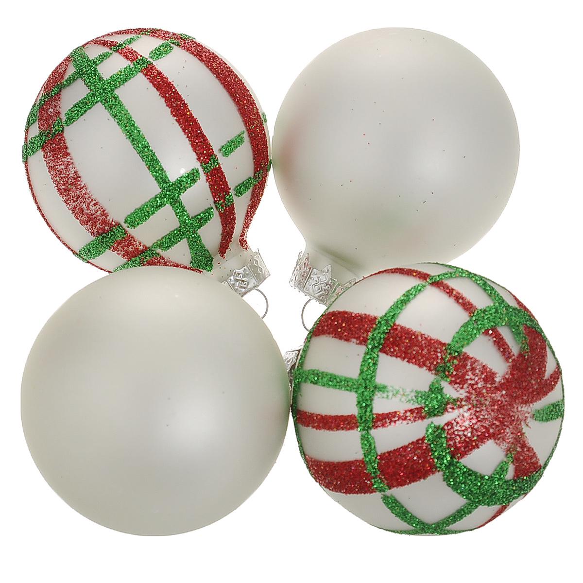 Набор новогодних подвесных украшений Шар, цвет: серебристый, красный, диаметр 6 см, 4 шт. 3449034490Набор новогодних подвесных украшений Шар прекрасно подойдет для праздничного декора новогодней ели. Состоит из четырех шаров. Елочная игрушка - символ Нового года. Она несет в себе волшебство и красоту праздника. Создайте в своем доме атмосферу веселья и радости, украшая новогоднюю елку нарядными игрушками, которые будут из года в год накапливать теплоту воспоминаний. Коллекция декоративных украшений принесет в ваш дом ни с чем несравнимое ощущение волшебства! Откройте для себя удивительный мир сказок и грез. Почувствуйте волшебные минуты ожидания праздника, создайте новогоднее настроение вашим дорогим и близким.