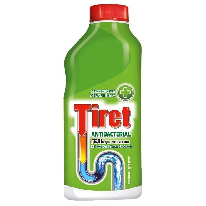 Гель для устранения и профилактики засоров Tiret, антибактериальный, 500 мл14315Гель Tiret предназначен для устранения и профилактики засоров в канализационных трубах. Дезинфицирует, устраняет неприятные запахи. Устраняет засоры лучше, чем традиционные методы и средства. Густая структура геля позволяет продукту проникать глубоко в трубу даже при наличии воды в раковине. Подходит для профилактики появления засоров. Идеально подходит и безопасен для всех видов металлических и пластиковых труб.