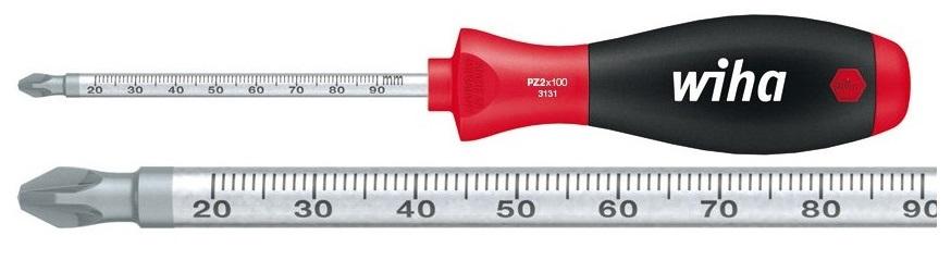 Отвертка SoftFinish PZ2x100 Laserskala Wiha 35399