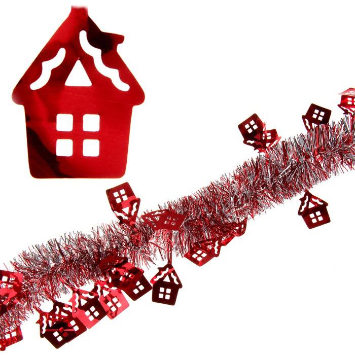 Мишура новогодняя Sima-land, цвет: красный, серебристый, диаметр 5 см, длина 2 м. 279374 мишура новогодняя sima land цвет золотистый красный диаметр 7 см длина 2 м 279377