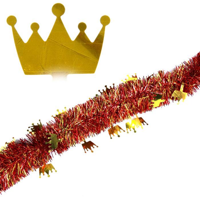 Мишура новогодняя Sima-land, цвет: золотистый, красный, диаметр 7 см, длина 2 м. 279377 мишура новогодняя sima land цвет золотистый красный диаметр 7 см длина 2 м 279377