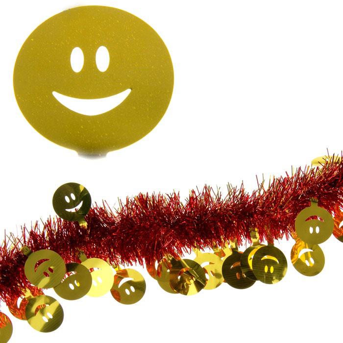 Мишура новогодняя Sima-land, цвет: красный, золотистый, диаметр 7 см, длина 2 м. 279385 мишура новогодняя sima land цвет золотистый красный диаметр 7 см длина 2 м 279377