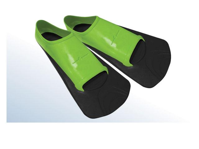 """MadWave Ласты тренировочные для плавания Mad Wave """"Training II Rubber"""", цвет: черный, зеленый. Размер 44-46 10008584"""
