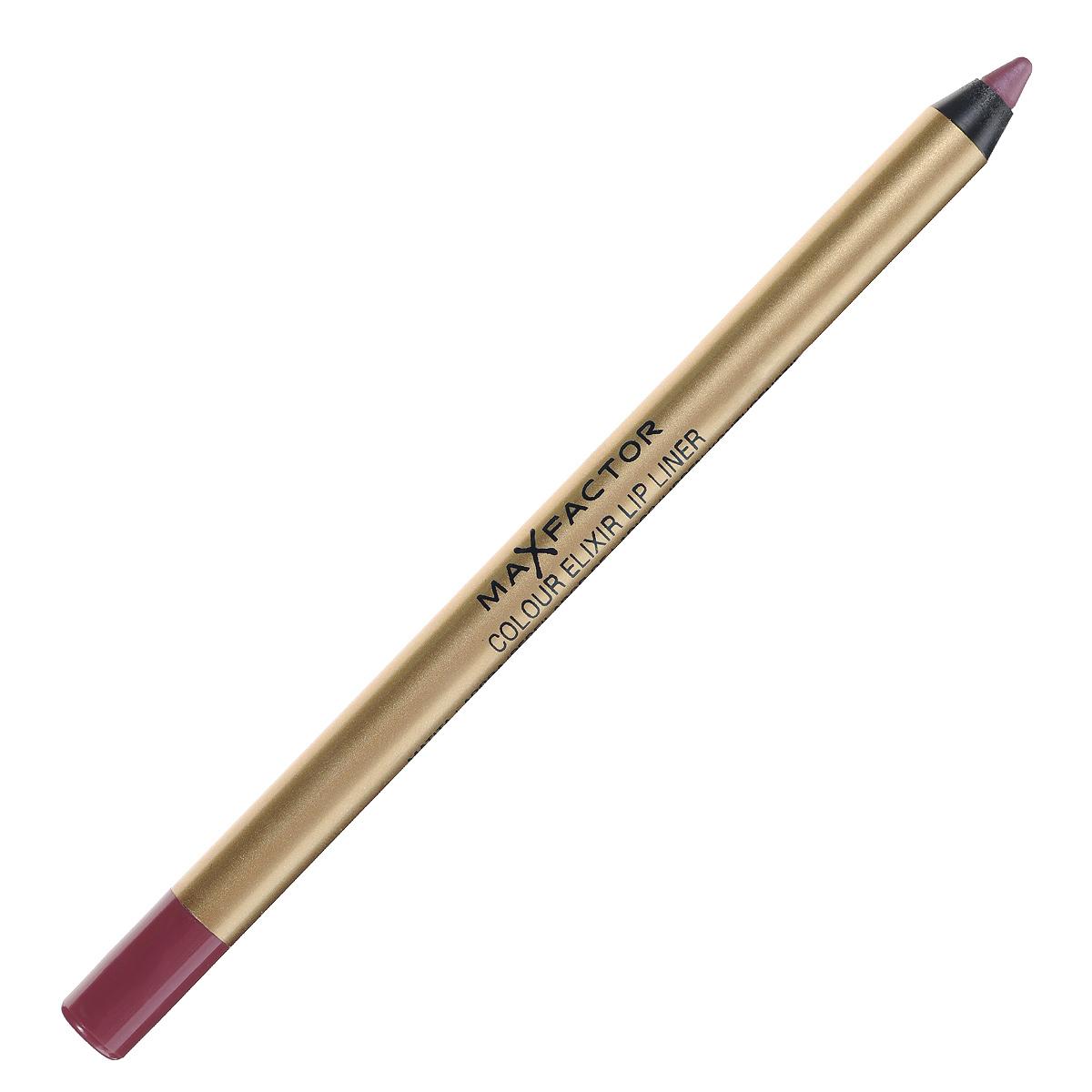 Max Factor Карандаш для губ Colour Elixir Lip Liner, тон №04 pink princess, цвет: розовый81440153Секрет эффектного макияжа губ - правильный карандаш. Он мягко касается губ и рисует точную линию, подчеркивая контур и одновременно ухаживая за губами. Карандаш для губ Colour Elixir подчеркивает твои губы, придавая им форму. - Роскошный цвет и увлажнение для мягких и гладких губ. - Оттенки подходят к палитре помады Colour Elixir. - Легко наносится. 1. Выбирай карандаш на один тон темнее твоей помады 2. Наточи карандаш и смягчи кончик салфеткой 3. Подведи губы в уголках, дугу Купидона и середину нижней губы, затем соедини линии 4. Нанеси несколько легких штрихов на губы, чтобы помада держалась дольше.