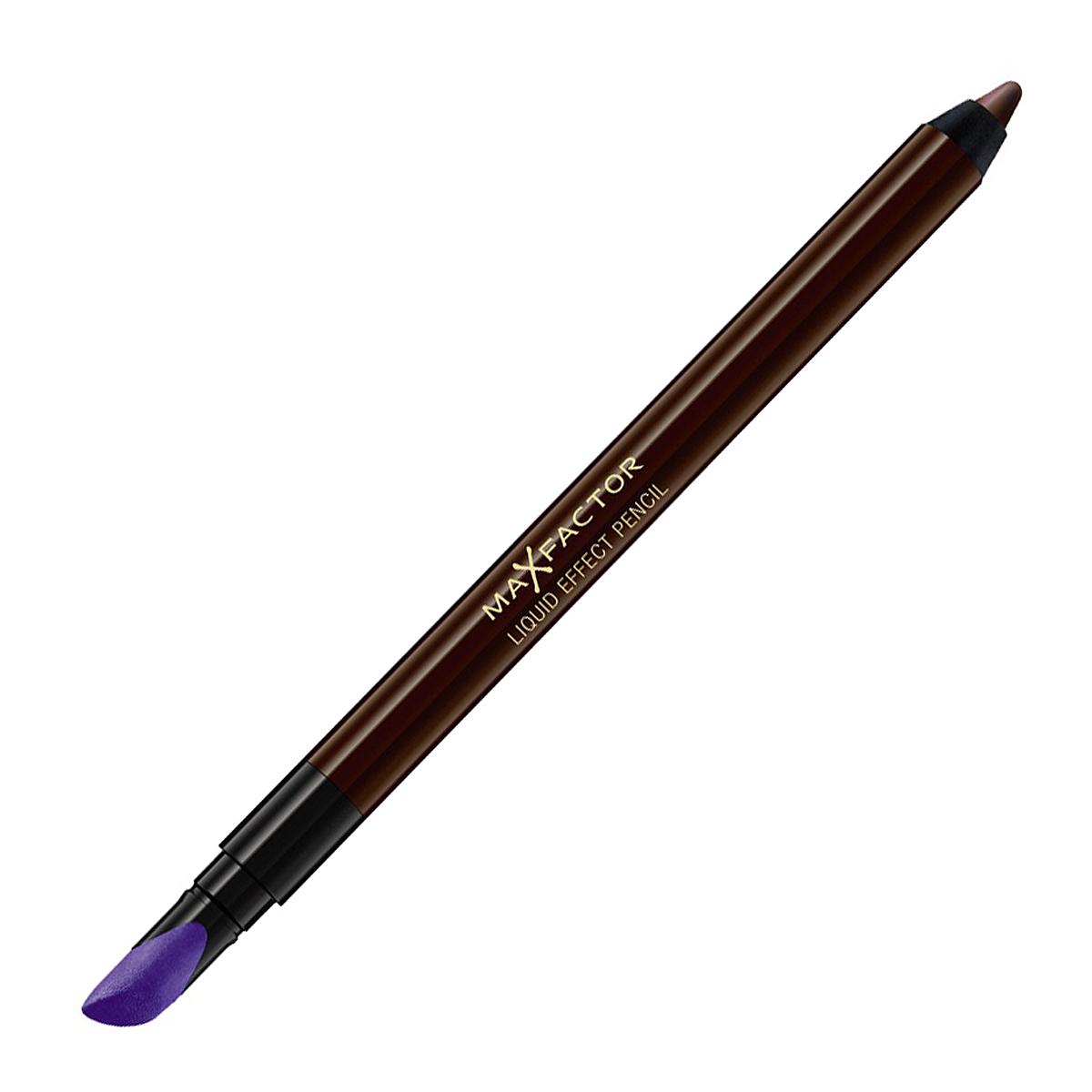 Max Factor Карандаш для глаз Liquid Effect Pencil, тон №05 Brown blaze, цвет: коричневый81440185Контурный карандаш для глаз Liquid Effect Pencil - это уникальное экспертное решение компании MaxFactor для макияжа глаз. Удобство использования карандаша сочетается с четкостью линий и насыщенностью цвета подводки для век. При помощи специального наконечника можно плавно растушевать стрелки и создать эффект Smoky eyes. Устойчивый к внешним воздействиям. Универсальный карандаш для век поможет придать вашим глазам особую выразительность и таинственность с легким эффектом гламура. Товар сертифицирован.