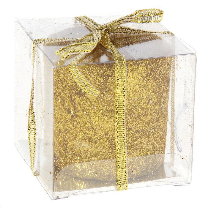 Свеча декоративная Sima-land Столбик, цвет: золотистый. 296060296060