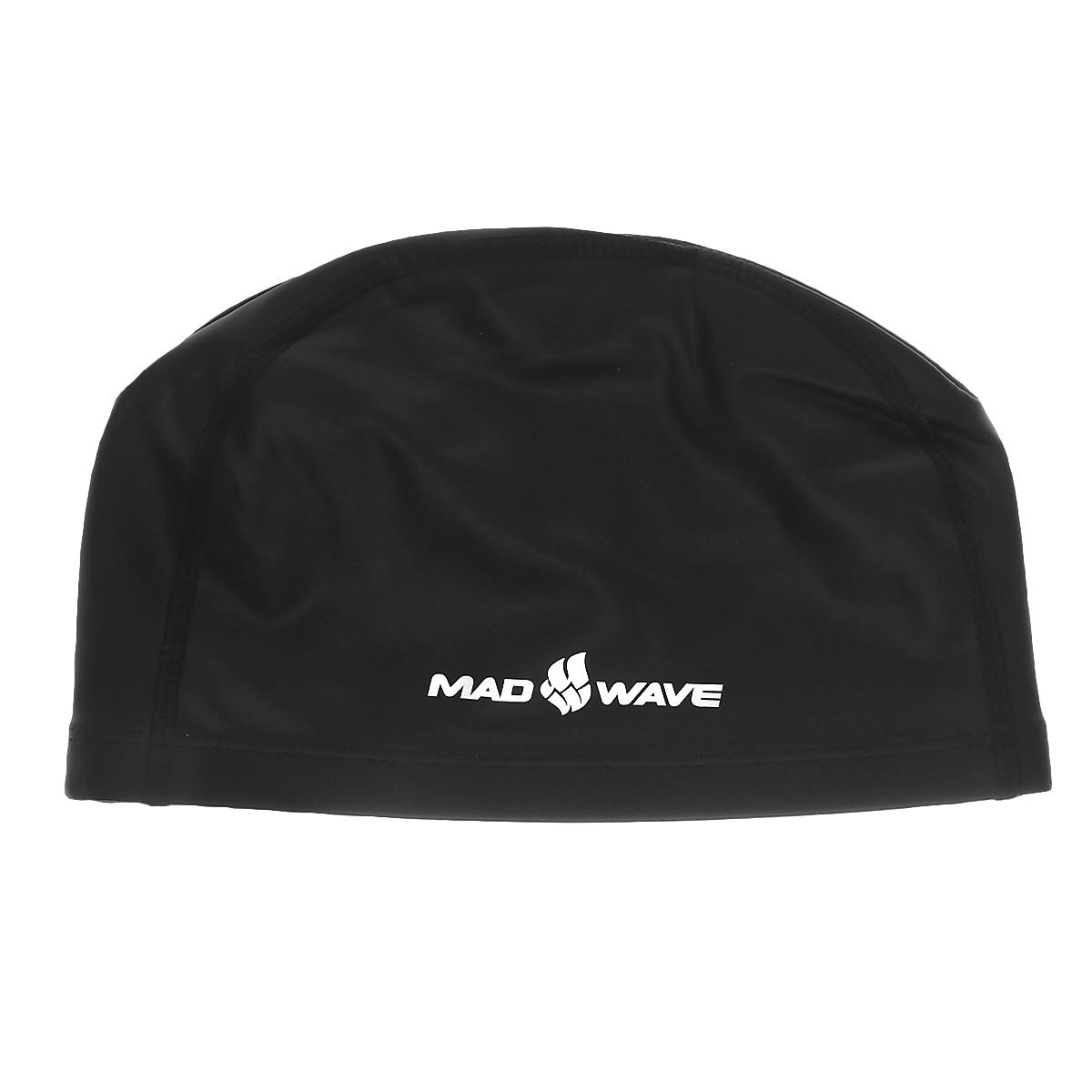 """MadWave Шапочка для плавания Mad Wave """"PUT Coated"""", цвет: черный 2220"""