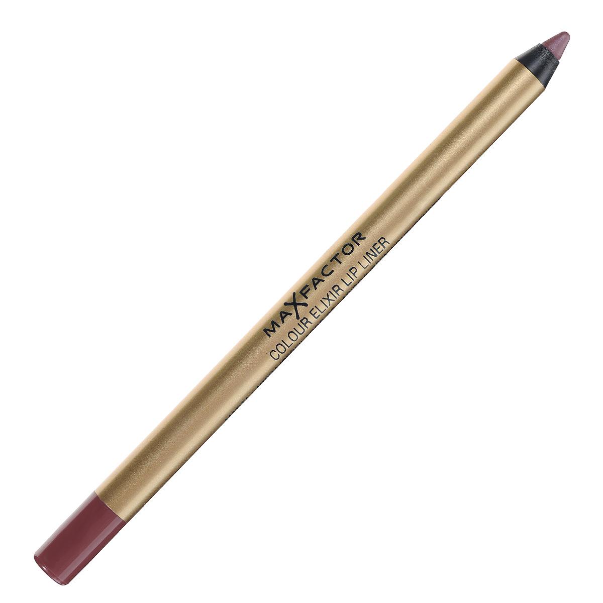 Max Factor Карандаш для губ Colour Elixir Lip Liner, тон №12 red blush, цвет: бордовый1092018Секрет эффектного макияжа губ - правильный карандаш. Он мягко касается губ и рисует точную линию, подчеркивая контур и одновременно ухаживая за губами. Карандаш для губ Colour Elixir подчеркивает твои губы, придавая им форму. - Роскошный цвет и увлажнение для мягких и гладких губ. - Оттенки подходят к палитре помады Colour Elixir. - Легко наносится.1. Выбирай карандаш на один тон темнее твоей помады 2. Наточи карандаш и смягчи кончик салфеткой 3. Подведи губы в уголках, дугу Купидона и середину нижней губы, затем соедини линии 4. Нанеси несколько легких штрихов на губы, чтобы помада держалась дольше.