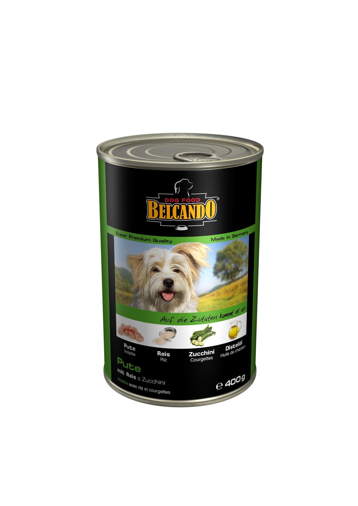Консервы для собак Belcando, с мясом и овощами, 400 г0120710Консервы Belcando - это полнорационное влажное питание для собак. Подходят для собак всех возрастов. Комбинируется с любым типом корма, в том числе с натуральной пищей. Состав: мясо 93,8%, овощи 5%, витамины и минералы 1,2%. Анализ состава: протеин 14 %, жир 5 %, клетчатка 0,3 %, зола 2,5 %, влажность 79 %, витамин А 2,500 МЕ/кг, витамин Е 40 мг/кг, витамин D3 250 МЕ/кг, кальций 0,4 %, фосфор 0,16 %.Вес: 400 г.Товар сертифицирован.