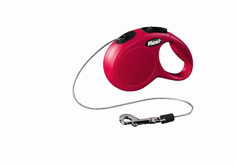 Поводок-рулетка Flexi Classic Basic Mini XS для собак до 8 кг, цвет: красный, 3 м022405Поводок-рулетка Flexi Classic Basic Mini XS изготовлен из пластика и нейлона. Подходит для собак весом до 8 кг. Тросовый поводок обеспечивает каждой собаке свободу движения, что идет на пользу здоровью и радует вашего четвероногого друга. Рулетка очень проста в использовании. Она оснащена кнопками кратковременной и постоянной фиксации. Ее можно оснастить мультибоксом для лакомств или пакетиков для сбора фекалий, LED подсветкой корпуса, своркой или ремнем с LED подсветкой. Поводок имеет прочный корпус, хромированную застежку и светоотражающие элементы. Длина поводка: 3 м. Максимальная нагрузка: 8 кг. Товар сертифицирован.