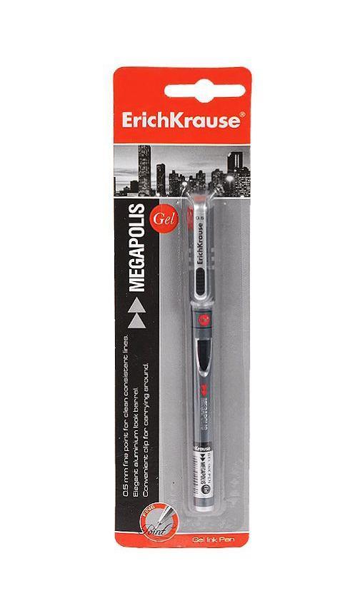 Ручка гелевая Erich Crause Megapolis Gel, цвет: черныйPP-304Характеристики:Материал: пластик, металл, резина. Толщина линии: 0,5 мм. Длина ручки: 14 см. Цвет чернил: черный. Размер упаковки: 6 см х 21 см х 1,5 см. Изготовитель:Китай.