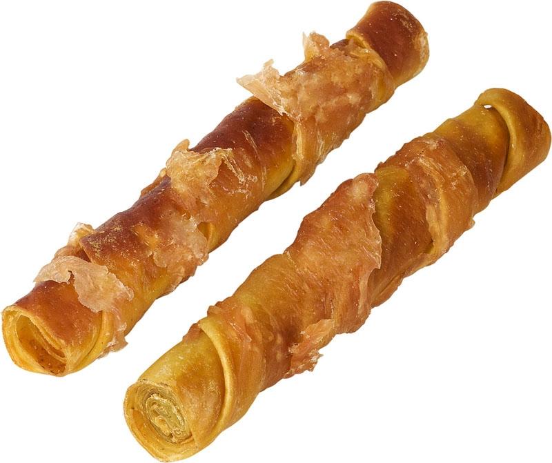 Лакомство для собак Деревенские лакомства, куриные твистеры сушеные, 100 г, 2 шт0120710Лакомство для собак Деревенские лакомства в виде сушеных твистеров произведено из отборного мяса курицы без использования красителей, консервантов и специй. Твистеры обладают тонким изысканным вкусом и к тому же легко усваиваются.Лакомство абсолютно гипоаллергенно. Вы можете быть уверены в том, что ваша собака получает 100% натуральный продукт высочайшего качества. Куриные твистеры станут любимым лакомством для вашего питомца, а вы будете довольны, что можете доставить минуты радости вашей собаке. Состав: куриное филе, сыромятная свиная кожа. Гарантированные показатели на 100 г продукта: белок 71,80 г, жир 6,80 г, влага 17,50 г, клетчатка 0,10 г, зола 3,50 г. Энергетическая ценность на 100 г: 370,4 ккал.Комплектация: 2 шт. Товар сертифицирован.