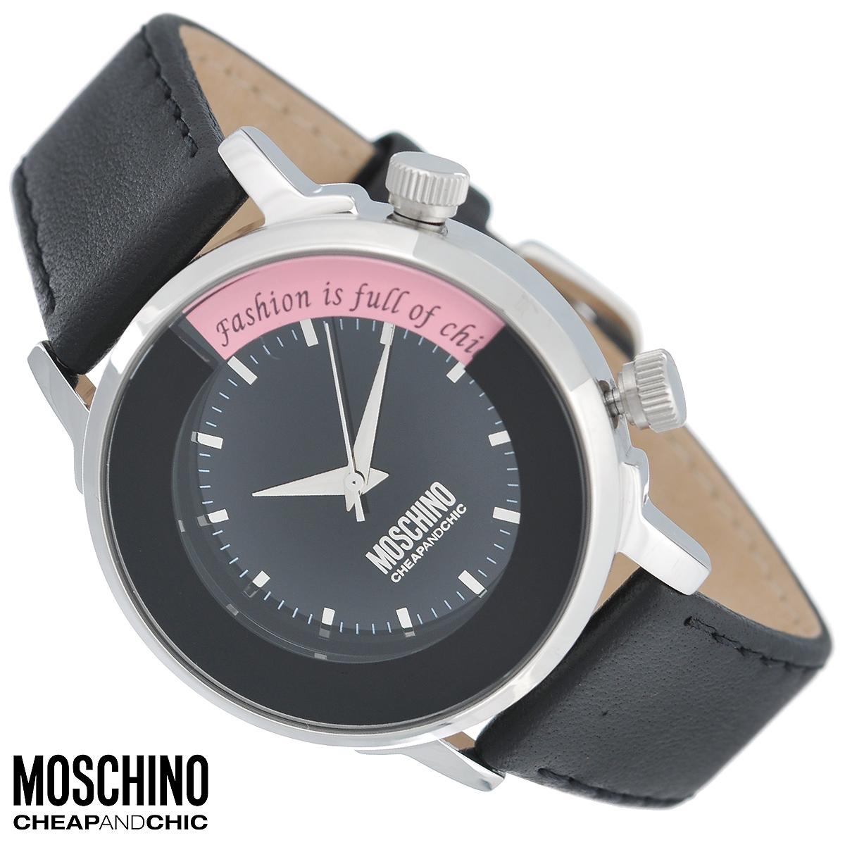 Часы женские наручные Moschino, цвет: черный. MW0249INT-06501Наручные часы от известного итальянского бренда Moschino - это не только стильный и функциональный аксессуар, но и современные технологи, сочетающиеся с экстравагантным дизайном и индивидуальностью. Часы Moschino оснащены кварцевым механизмом. Корпус выполнен из высококачественной нержавеющей стали. Циферблат с отметками защищен минеральным стеклом. Под циферблатом расположено вращающееся кольцо с цветными кристаллами. Выбор цвета кристаллов осуществляется поворотом заводной головки на два часа. Часы имеют три стрелки - часовую, минутную и секундную. Ремешок часов выполнен из натуральной кожи и оснащен классической застежкой. Часы упакованы в фирменную металлическую коробку с логотипом бренда. Часы Moschino благодаря своему уникальному дизайну отличаются от часов других марок своеобразными циферблатами, функциональностью, а также набором уникальных технических свойств. Каждой модели присуща легкая экстравагантность, самобытность и, безусловно, великолепный вкус. Характеристики:Диаметр циферблата: 2,6 см.Размер корпуса: 4 см х 4 см х 1,1 см.Длина ремешка (с корпусом): 22,5 см.Ширина ремешка: 1,7 см.