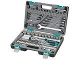 Набор инструментов Stels, 82 предмета14105Набор инструментов торговой марки Stels разработан специально для автолюбителей и центров технического обслуживания. Каждый этап производства контролируется в соответствии с международными стандартами. Головки и комбинированные ключи изготовлены из хромованадиевой стали, придающей инструменту исключительную твердость в сочетании с легкостью. Набор упакован в кейс, изготовленный из жесткого противоударного пластика. Состав набора: Ключ трещоточный 1/2. Ключ трещоточный 1/4. Головки торцевые 1/2: 14 мм, 15 мм, 16 мм, 17 мм, 18 мм, 19 мм, 20 мм, 22 мм, 24 мм, 27 мм, 30 мм, 32 мм. Головки торцевые 1/4: 4 мм, 4,5 мм, 5 мм, 5,5 мм, 6 мм, 7 мм, 8 мм, 9 мм, 10 мм, 11 мм, 12 мм, 13 мм, 14 мм. Удлинитель гибкий с отверточной рукояткой 1/4. Ключи комбинированные 8 мм, 10 мм, 11 мм, 12 мм, 13 мм, 14 мм, 17 мм, 19 мм, 22 мм. Кардан шарнирный 1/2. Кардан шарнирный 1/4. Удлинитель 1/2: 125 мм, 250 мм. Удлинитель 1/4: 50...