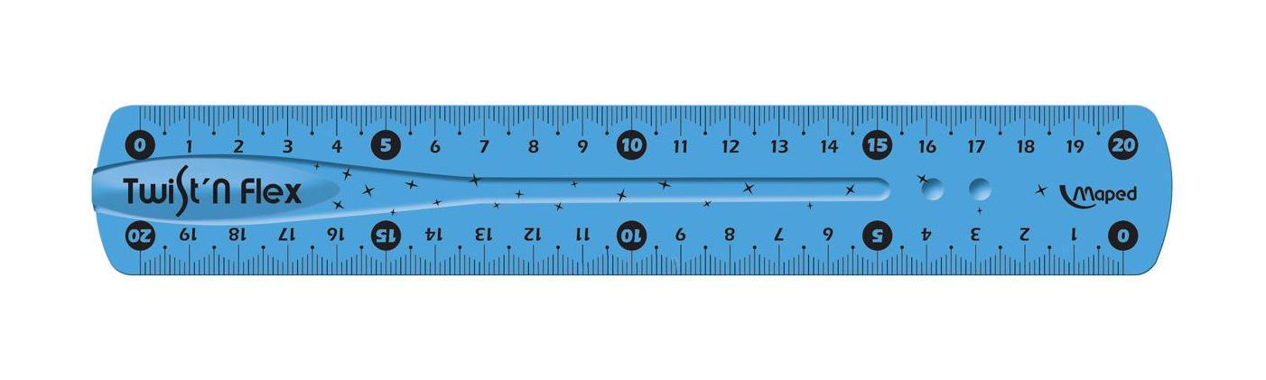 """Линейка Maped """"Twist'n'flex"""", неломающаяся, цвет: голубой, 20 см 279210"""