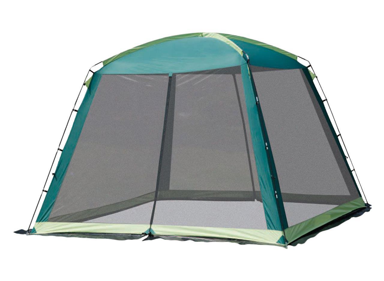Шатер-тент TREK PLANET BARBEQUE DOME, 305 см х 305 см х 218 см, цвет: зеленый, светло-зеленый70257Универсальный шатер TREK PLANET Barbeque Dome отлично подойдет как для дачи, в качестве беседки или полевого навеса. Особенности шатра: - большие москитные сетки со всех четырех сторон; - два входа в шатер; - легко собирается и разбирается; - двери из москитной сетки с молнией по центру, удобно сворачиваются по бокам; - каркас выполнен из прочного стеклопластика; - защитный полог по всему периметру защищает от насекомых; - возможность подвески фонаря. Палатка упакована в сумку-чехол с ручками, застегивающуюся на застежку-молнию. Размер в сложенном виде 20 см х 68 см.
