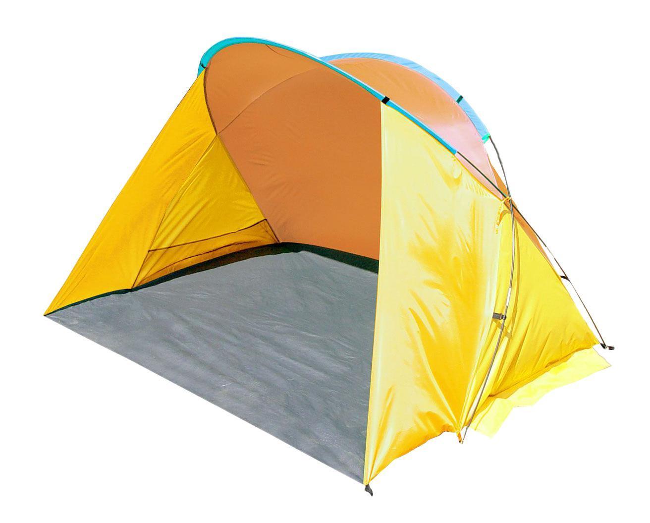 Тент пляжный TREK PLANET Miami Beach, цвет: желтый, оранжевый, 200 см х 150 см х 125 см70256Однослойный пляжный тент TREK PLANET Miami Beach, обеспечивает защиту от солнца, ветра и даже легких осадков - особенно полезен для очень маленьких детей. Очень прост в установке, имеет малый вес и удобный чехол с ручкой для переноски. Особенности модели: - Простая и быстрая установка - Тент палатки из полиэстера, с пропиткой PU водостойкостью 800 мм - Каркас выполнен из прочного стекловолокна - Дно изготовлено из прочного армированного полиэтилена - Утяжеляющие карманы для песка для устойчивости тента - Карманы для мелочей по бокам тента - Растяжки и колышки в комплекте.