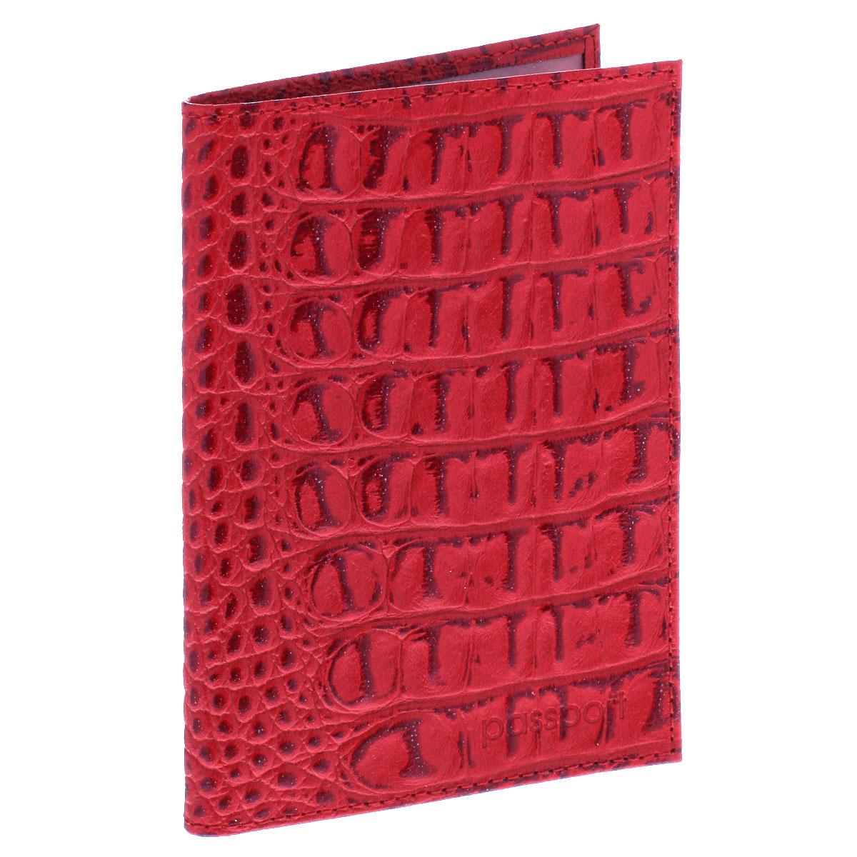 Обложка для паспорта Befler, цвет: красный. O.1.-13BM8434-58AEУльтрамодная обложка для паспорта Befler изготовлена из натуральной кожи и оформлена тиснением под рептилию. Изделие с обеих сторон дополнено тиснеными надписями. Внутри - два прозрачных боковых кармана из мягкого пластика, которые обеспечат надежную фиксацию вашего документа. Изделие упаковано в фирменную коробку.Модная обложка для паспорта не только поможет сохранить внешний вид вашего документа и защитить его от повреждений, но и станет стильным аксессуаром, который эффектно дополнит ваш образ.