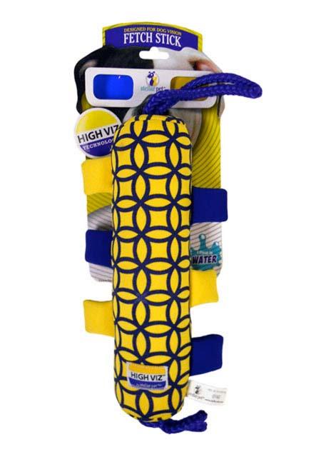 Игрушка для собак R2P Pet High-Viz. Аппортировка, плавающая, цвет: желтый, синий0160Игрушка для собак R2P Pet High-Viz. Аппортировка - прекрасный подарок для вашего питомца! Собаки воспринимают цвет не так, как человек. Игрушки серии High-Viz разработаны с учетом особенностей зрения собак - сочетание желтого и сине-фиолетового является оптимальным и повышает видимость игрушки. Высококонтрастные расцветки наиболее подходят для глаз собак, стимулируют их внимание и привлекают к игре. Изделие выполнено из неопрена. Игрушка подходит для активной игры с собакой как на суше, так и воде, потому что игрушка не тонет, а плавает на поверхности воды.