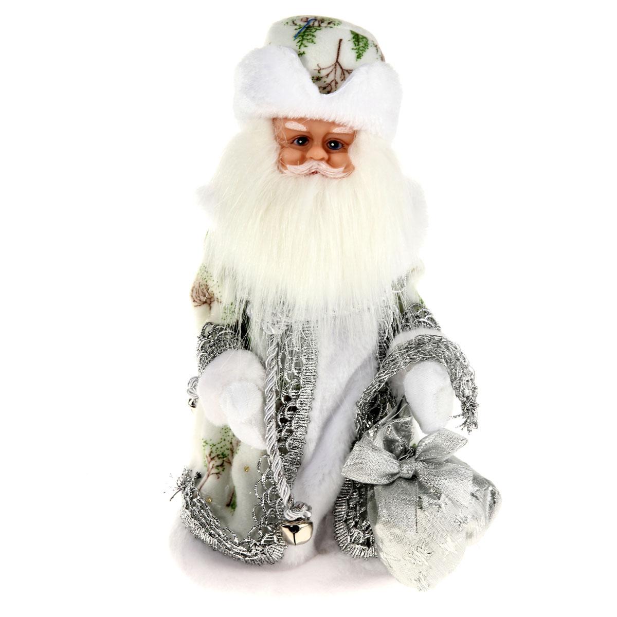 Новогодняя декоративная фигурка Sima-land Дед Мороз, анимированная, высота 28 см. 827841827841Новогодняя декоративная фигурка выполнена из высококачественного пластика в виде Деда Мороза. Дед Мороз одет в шубу с опушкой, украшенную тесьмой и блестками. На голове шапка в цвет шубы. В руке Дед Мороз держит мешок с подарками. Фигурка стоит на подставке. Особенностью фигурки является наличие механизма, при включении которого играет мелодия, а голова и руки куклы начинают двигаться. Его добрый вид и очаровательная улыбка притягивают к себе восторженные взгляды. Декоративная фигурка Дед Мороз подойдет для оформления новогоднего интерьера и принесет с собой атмосферу радости и веселья. УВАЖАЕМЫЕ КЛИЕНТЫ! Обращаем ваше внимание на тот факт, что декоративная фигурка работает от трех батареек типа АА напряжением 1,5V. Батарейки в комплект не входят.