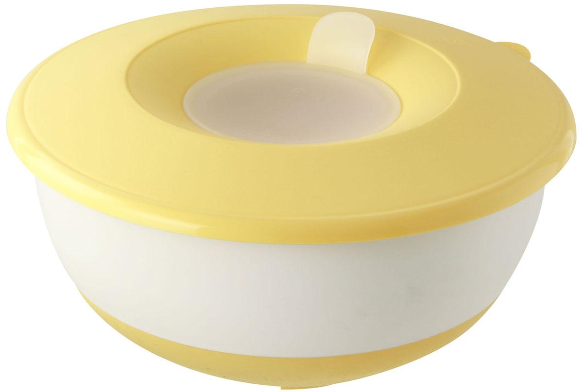 Форма для замешивания теста Dr.Oetker с крышкой, цвет: желтый, 3,2 л1801Форма Dr.Oetker изготовлена из пищевого пластика и предназначена для замешивания теста. Изделие оснащено плотно прилегающей крышкой с отверстием под миксер. Внешняя сторона имеет прорезиненную поверхность, что предотвращает выскальзывание из рук. С такой формой процесс замешивания станет еще более удобным и быстрым. Форма станет прекрасным подарком как для себя, так и для ваших близких.