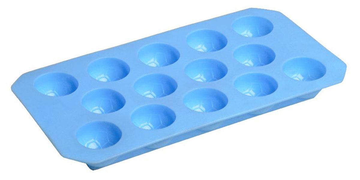 Форма для льда Fackelmann, 12 ячеек, цвет: синий49387Форма для льда Fackelmann выполнена из мягкого пластика. На одном листе расположено 12 формочек. Благодаря тому, что формочки изготовлены из мягкого материала, готовый лед вынимать легко и просто. Чтобы достать льдинки, эту форму не нужно держать под теплой водой или использовать нож. Теперь на смену традиционным квадратным пришли новые оригинальные формы для приготовления фигурного льда, которыми можно не только охладить, но и украсить любой напиток. В формочки при заморозке воды можно помещать ягодки, такие льдинки не только оживят коктейль, но и добавят радостного настроения гостям на празднике! Размер формы: 22 см х 11 см х 2 см. Компания Fackelmann была основана в 1948 году и в настоящее время является крупнейшим мировым поставщиком товаров для дома. В ассортименте компании найдутся товары для самых разных покупателей. Продукция Fackelmann выполнена из различных комбинаций металла - нержавеющей, хромированной, никелированной и луженой стали,...