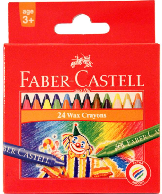 Восковые карандаши КЛОУН, набор цветов, в картонной коробке, 24 шт.120057Вид карандаша: цветной.
