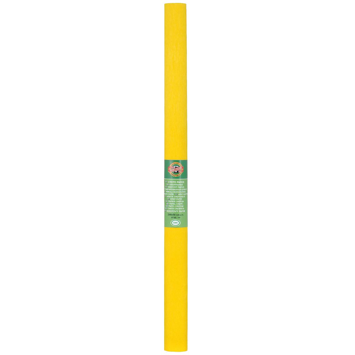 Бумага гофрированная Koh-I-Noor, цвет: темно-желтый, 50 см x 2 м09840-20.000.00Гофрированная бумага Koh-I-Noor - прекрасный материал для декорирования, изготовления эффектной упаковки и различных поделок. Бумага прекрасно держит форму, не пачкает руки, отлично крепится и замечательно подходит для изготовления праздничной упаковки для цветов.