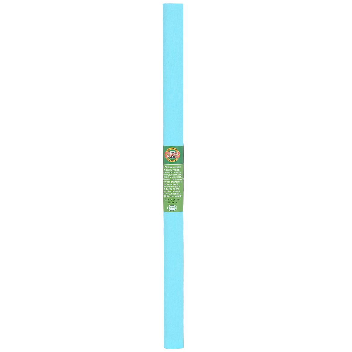Бумага крепированная Koh-I-Noor, цвет: светло-бирюзовый, 50 см x 2 мRSP-202SКрепированная бумага Koh-I-Noor - прекрасный материал для декорирования, изготовления эффектной упаковки и различных поделок. Бумага прекрасно держит форму, не пачкает руки, отлично крепится и замечательно подходит для изготовления праздничной упаковки для цветов.