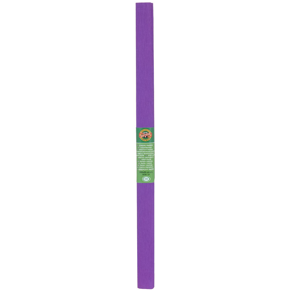Бумага гофрированная Koh-I-Noor, цвет: фиолетовый, 50 см x 2 м9755/21Гофрированная бумага Koh-I-Noor - прекрасный материал для декорирования, изготовления эффектной упаковки и различных поделок. Бумага прекрасно держит форму, не пачкает руки, отлично крепится и замечательно подходит для изготовления праздничной упаковки для цветов.