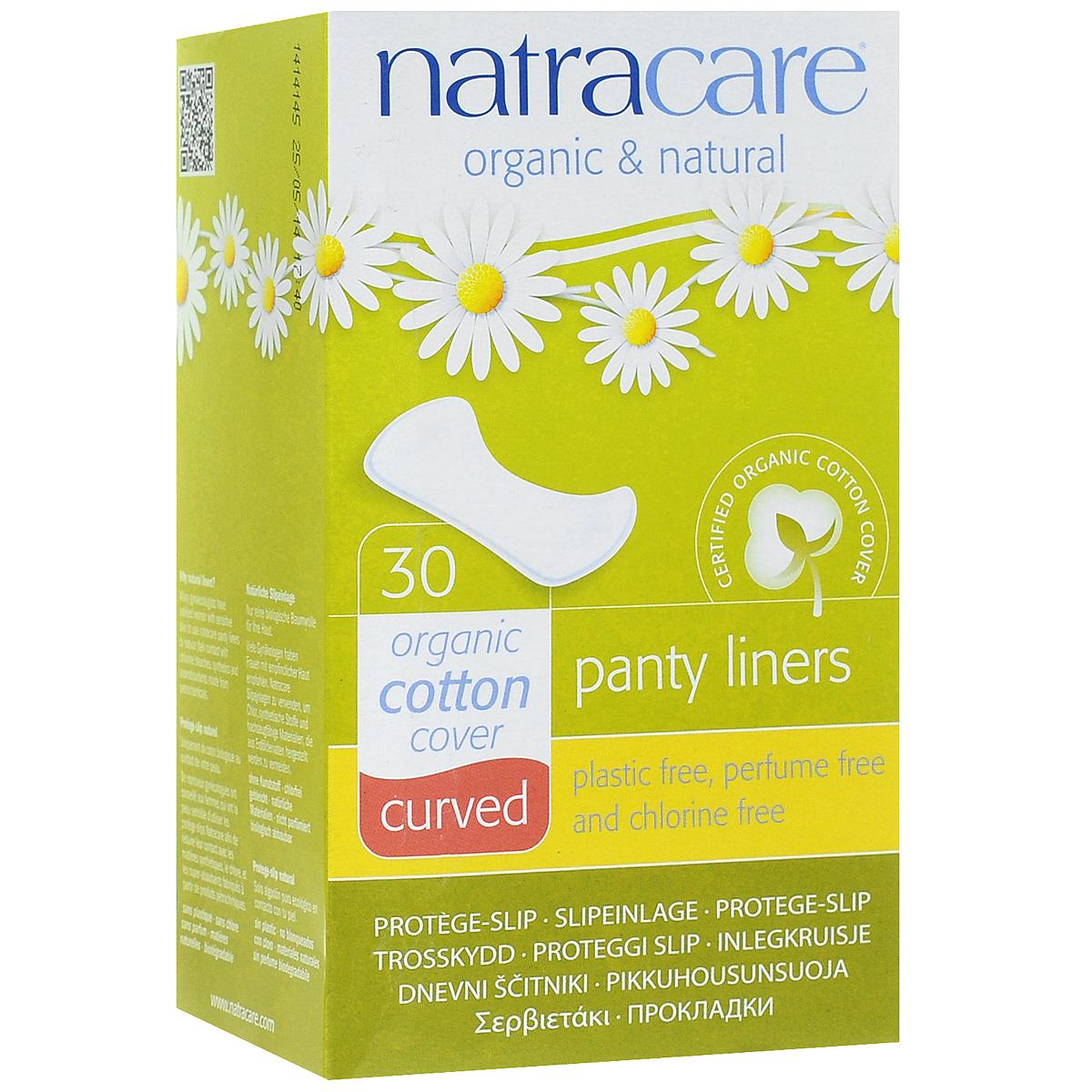 Natracare Ежедневные прокладки Curved, 30 шт3078Прокладки Natracare Curved, повторяющие анатомическую форму тела, предназначены для ежедневного использования, чтобы защитить нижнее белье и сохранить чувство свежести. Каждая прокладка снабжена влагонепроницаемым барьером.Прокладки изготовлены из 100% Био-хлопка - экологически чистого продукта, выращенного без использования пестицидов, не содержат вредные ингредиенты, не отбелены хлором, и полностью разлагаются после применения.В производстве прокладок использовался биопласт - пластик нового поколения, изготовленный из кукурузного крахмала, без ГМО. Он воздухопроницаемый, но не пропускает жидкость. В противоположность обычным пластикам, биопласт изготовлен из растительных материалов и биоразлагается.Товар сертифицирован.