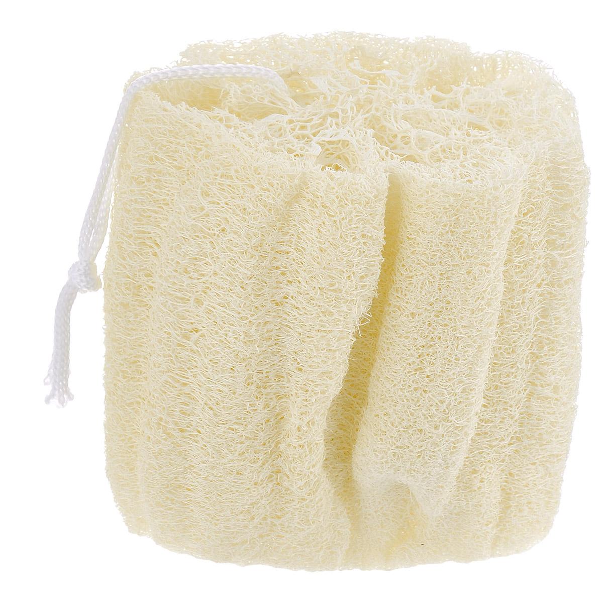 Мочалка из люфы Eva. М22SC-FM20101Натуральная мочалка с петлей Eva станет незаменимым аксессуаром ванной комнаты. Отлично пенится и быстро сохнет.Мочалка изготовлена из плодов люфы, благодаря чему она сохраняет все ценные свойства этого растения. Мочалка обладает массажным эффектом, она эффективно тонизирует и очищает кожу. Идеальна для профилактики и борьбы с целлюлитом. Подходит для всех типов кожи. Не вызывает аллергии.