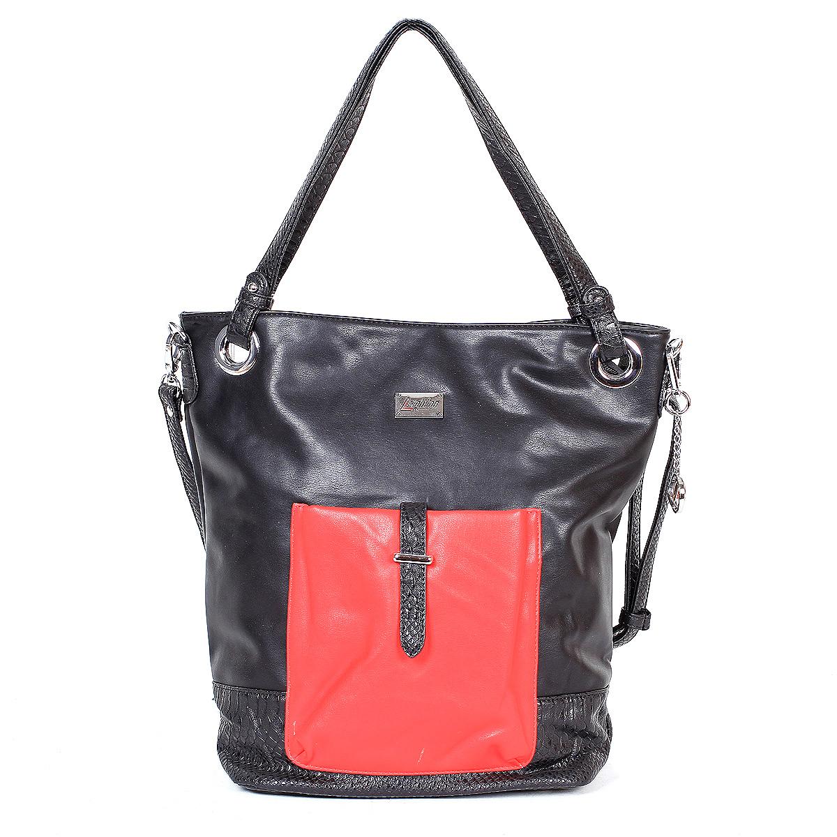 Сумка женская Leighton, цвет: черный, красный. 580189-1166/101/3799/1/1166/601