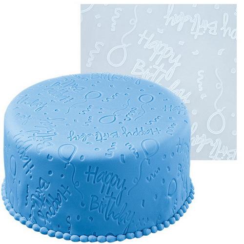 Мат для нанесения рисунка на мастику Wilton День рождения, цвет: голубой, 50,8 см х 50,8 см300196Мат Wilton День рождения, изготовленный из силикона, предназначен для нанесения рисунка на мастику при украшении тортов. Изделие имеет тиснение с надписями Happy Birthday , изображениями шариков и др.С этим матом вы сможете легко украсить кондитерское изделие.